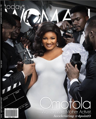 40&sexy! Check out Omotola on the front cover of TW magazine