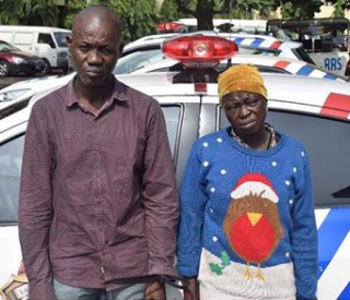 CCTV catches couple robbing commuters in Lagos(photo)