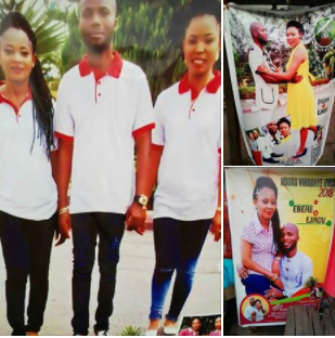 Man set to wed two women, makes separate billboards for the wedding ceremony in Abia state (photos)