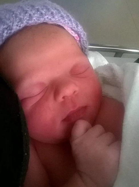 Mum feared she had a burst appendix but minutes later she gave birth to a surprise baby girl