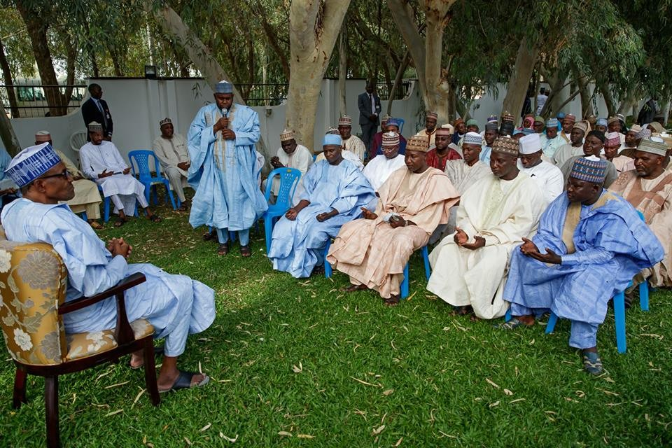 Photos: President Buhari receives Coalition of Daura Emirate Socio-Political Association