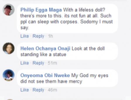"Lol...Black man marries his sex doll in ""Lagos, Nigeria"" (wedding photos)"