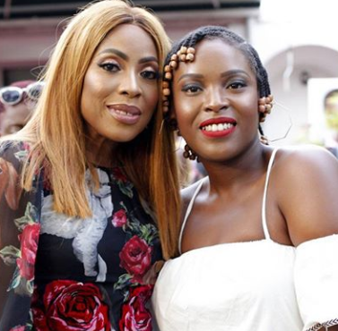 Lovely photo of Mo Abudu and her daughter Temidayo