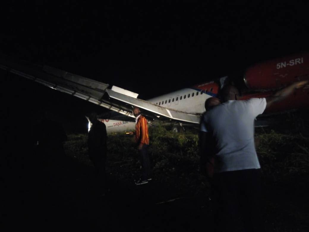 DANA aircraft runway overshoot caused by heavy rainfall- FAAN says