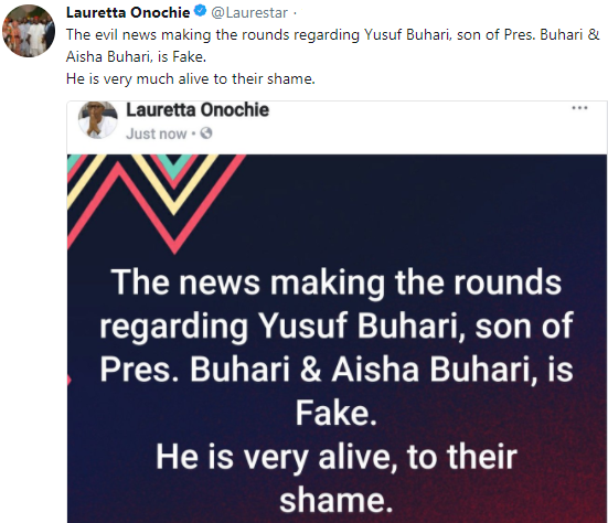 Presidency refutes claim that President Buhari
