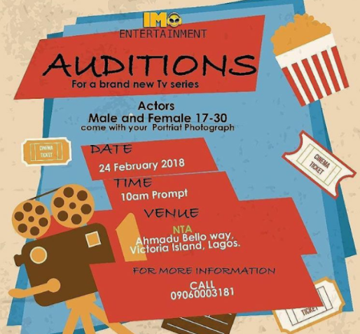 Actors needed for Imo Entertainment