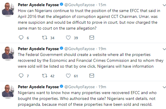 Governor Fayose reacts to FG