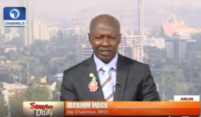 BREAKING – Acting EFCC chairman, Ibrahim Magu, speaks to Channels TV on why the senate has refused to confirm him(video)
