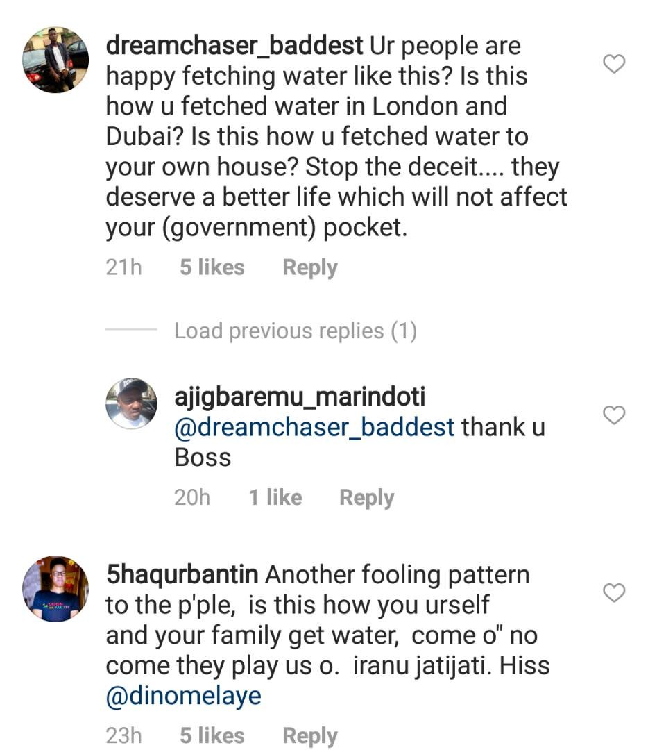 Nigerians attack Dino Melaye after he shared photo of a constituency project he just completed for his people in Kogi