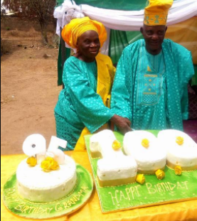 Old Nigerian couple celebrate their 100th and 95th birthdays together in strong health