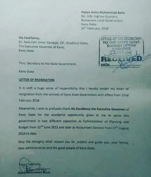 Kano State accountant-general, Aisha Bello?resigns over ?undue interference?
