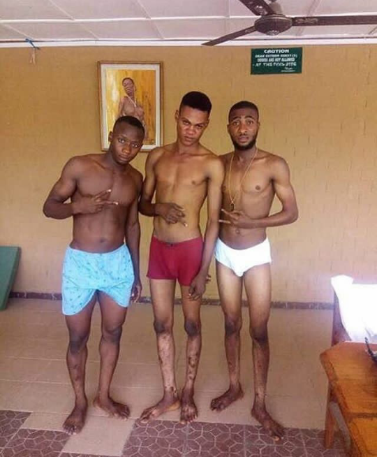 Viral photo of young men posing in just their underwear