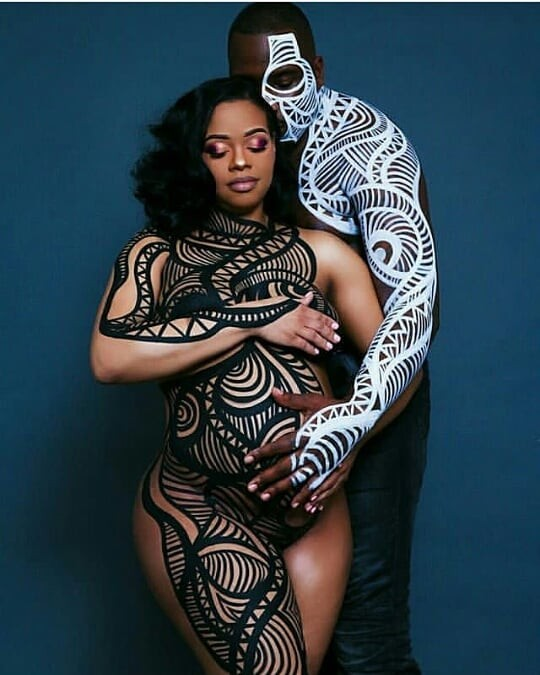 Photos: Couple get creative with artistic maternity nude shoot