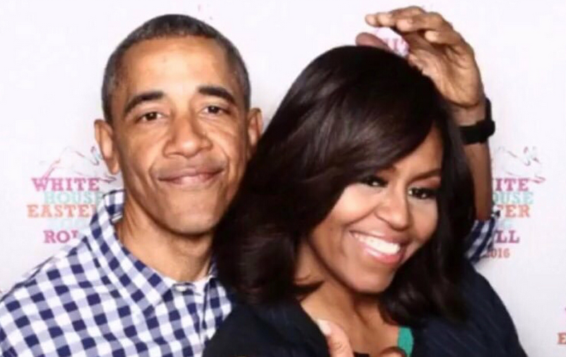 Barack and Michelle Obama goof around in cute new photos