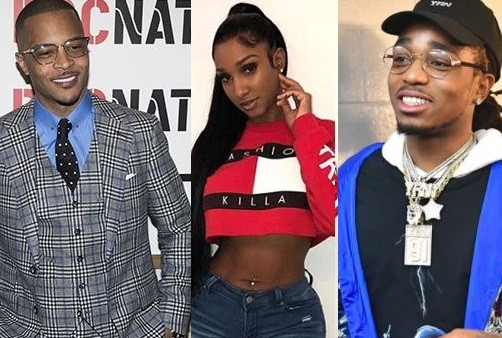 T.I. finds it ?Hilarious? that his former side chick Bernice Burgos may be in love with Quavo?