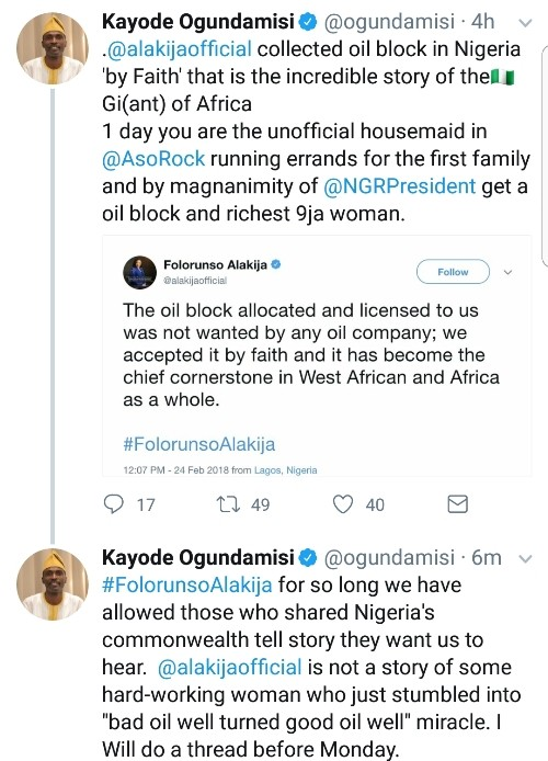 Choi! Richest woman in Nigeria dragged on Twitter after saying she accepted her oil well