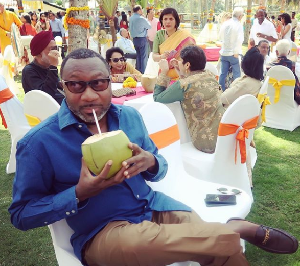 Photos: Billionaire businessmen, Femi Otedola and Aliko Dangote party in India