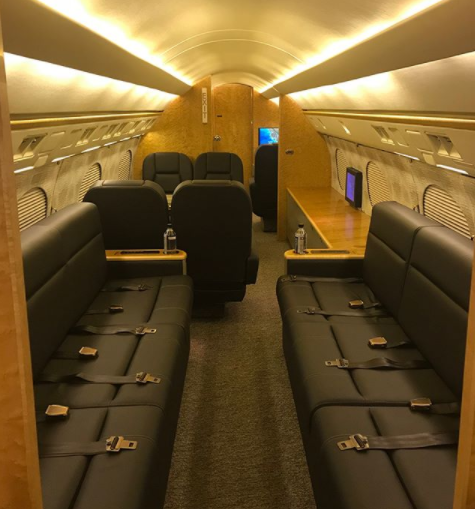 Photos: Floyd Mayweather just got himself a new private jet as his birthday gift!