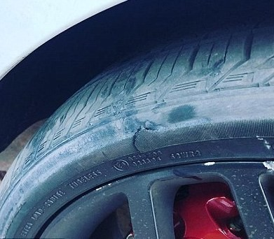 Mel B suspects her ex-husband Stephen Belafonte of slashing the tires on her Range Rover...(photo)