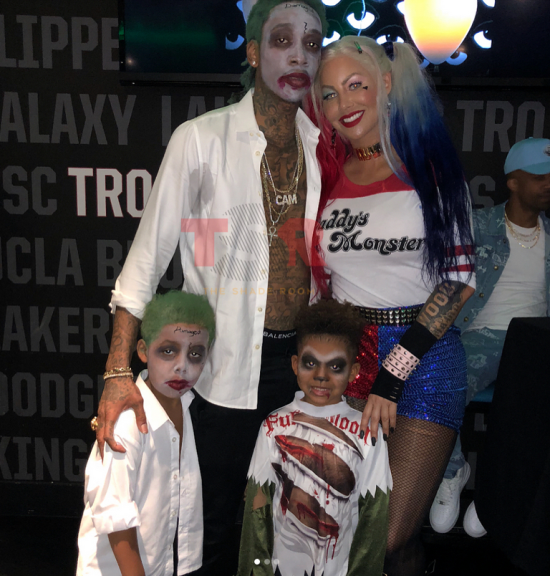 Affectionate Wiz Khalifa and Amber Rose team up for their son