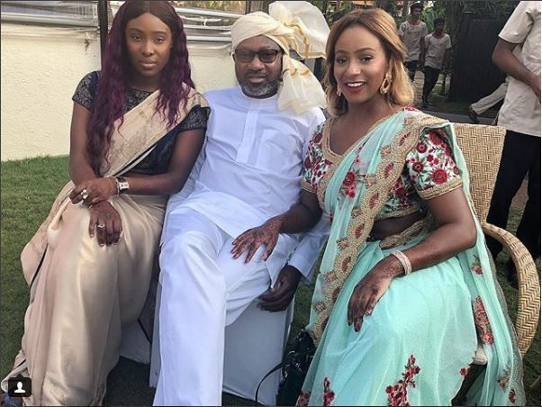 Photos of Femi Otedola, his daughters & Dangote rocking Indian attires in India
