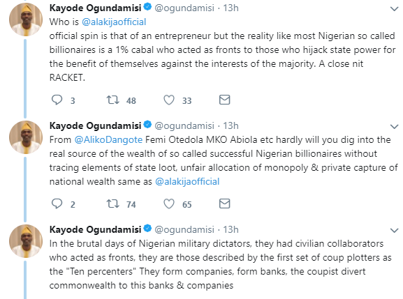 ''Leave God out of it'' Journalist Kayode Ogundamisi tackles Richest Woman in Nigeria, Folorunsho Alakija, over claims she accepted her oil well ''by faith''