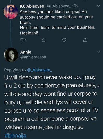 Nigerian women wish death on each other because of Big Brother Naija