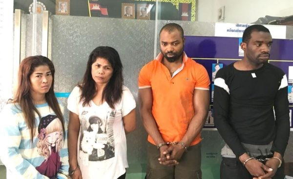 Photos: Nigerian, South African, Filipina woman, one other busted with drugs in Cambodia
