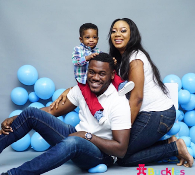 Actor Deyemi Okanlawon & wife welcome their second child, a baby boy (photos)