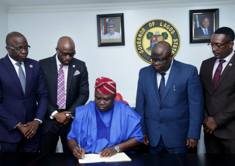 Governor?Ambode signs?the 2018 Appropriation Bill?into law with a budget of N1.04 trillion