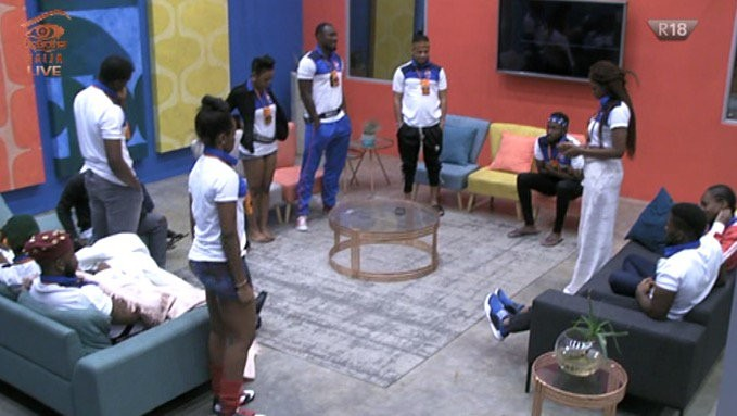 Here is the moment Tobi put up his former pair mate Cee-C and her partner Lolu for possible eviction (Video)