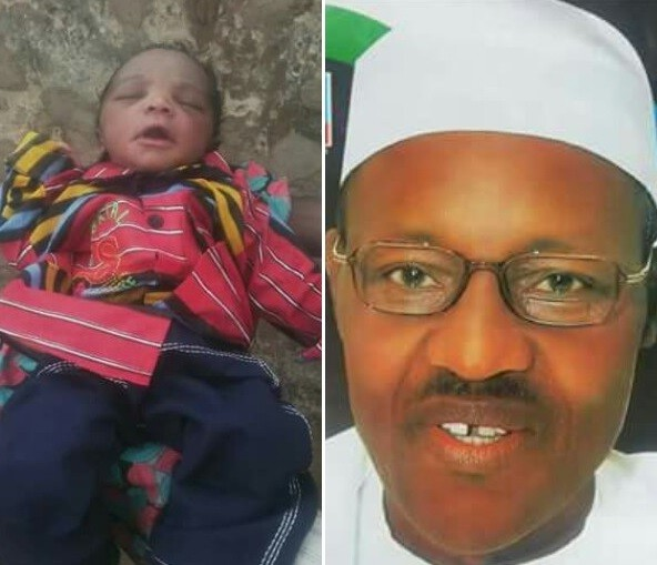 Photo: Father names his baby boy after President Buhari