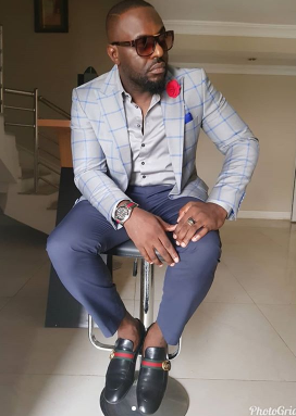 Choi! See how Jim Iyke mercilessly dragged two IG users who accused him of wearing fake Gucci shoes and commanding him to go and get married
