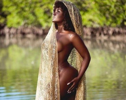 Love & Hip Hop Miami star, Amara Le Negra shows her sexy body as she strips down for racy lake shoot (Photos)
