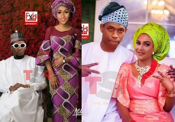 Ever imagined what Cardi B, Offset, Idris Elba, JLo, Alex Rodriquez & others would look like if they have traditional wedding (Photos)