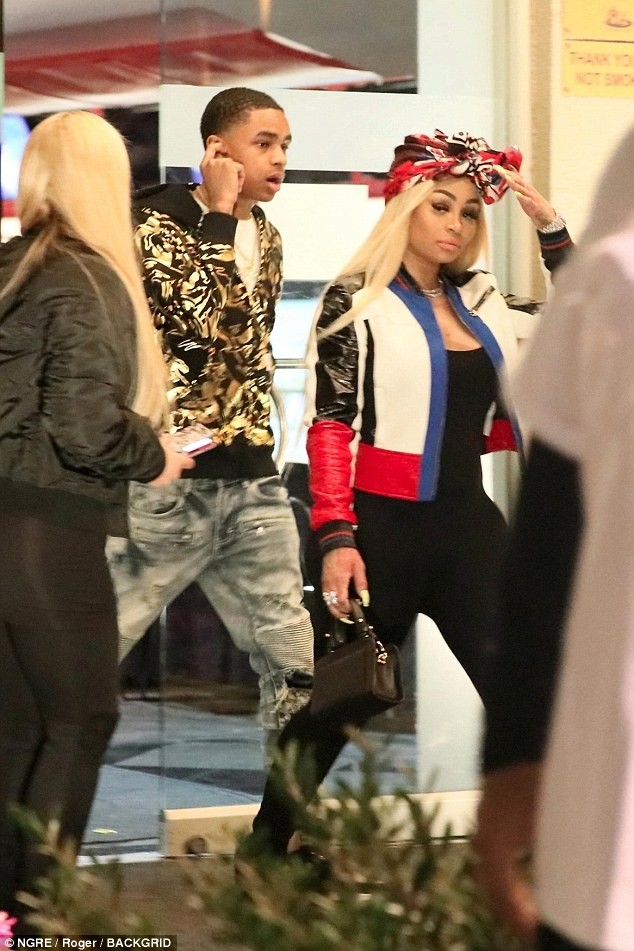 Blac Chyna steps out with 18-year old- singer YBN Almighty Jay amid sex tape drama (Photos)