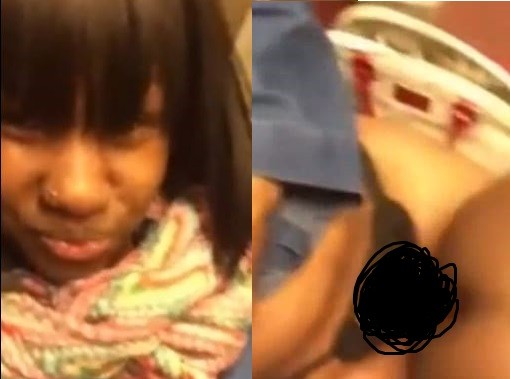 Video: Woman films herself inside a subway train smashing a man, while wearing a strap-on (18+)