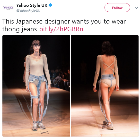 Fashion or madness! Thong jeans debuts at Tokyo