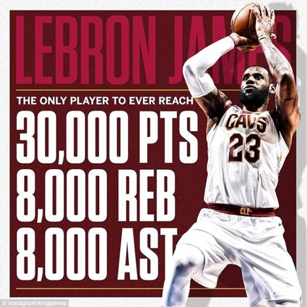 LeBron James becomes first NBA star to reach 30,000 points, 8,000 rebounds and 8,000 assists