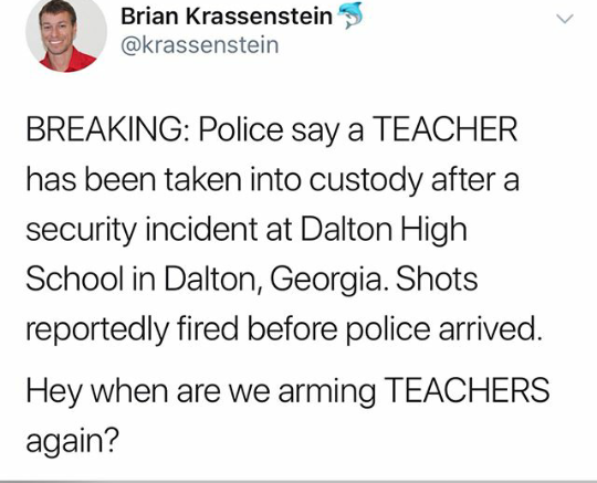 Breaking! Teacher arrested after shots were fired at ...
