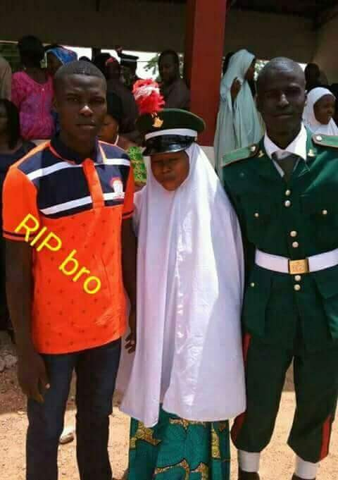 Photos of gallant young soldier killed in ambush by Boko Haram terrorists in Borno