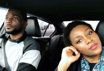 Genevieve Nnaji shares photo with her very handsome brother