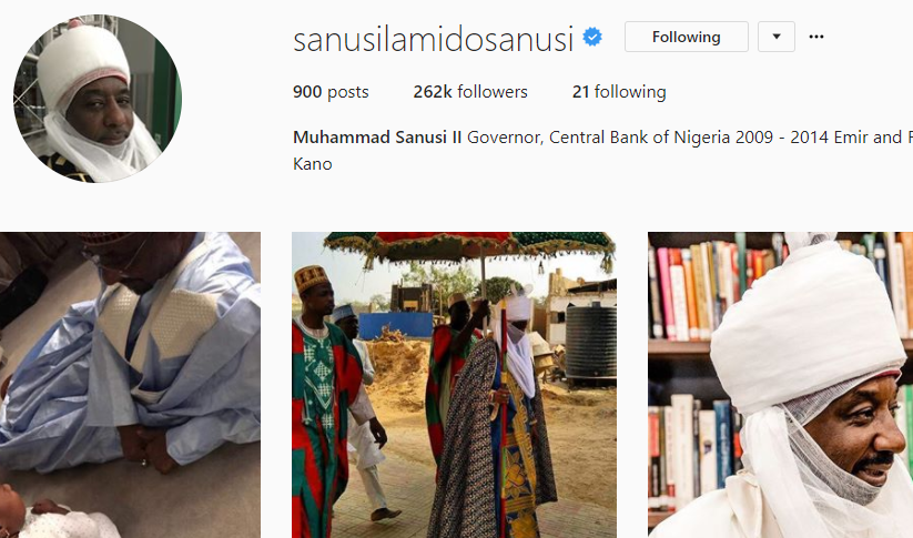 Kano police arrest man impersonating Emir of Kano, Muhammadu Sanusi with a verified Instagram page