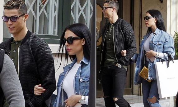 Cristiano Ronaldo takes his girlfriend Georgina on a shopping trip in Madrid (Photos)