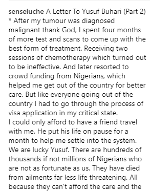 OAP Sensei Uche writes open letter to First son, Yusuf Buhari from his sick bed