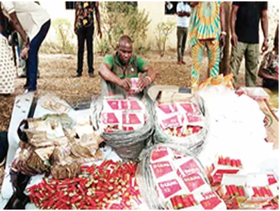 51-year old Pastor arrested in Delta State for hiding guns,?3,871 ammunition and drugs in his bedroom