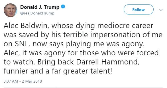 Donald Trump calls Alec Baldwin