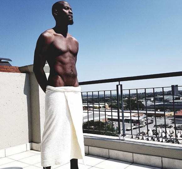 Music director, Moe Musa, shares sexy photo of himself with nothing but his towel on