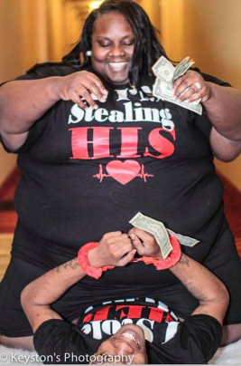 Checkout these pre-wedding photos of a plus-size lady and her man