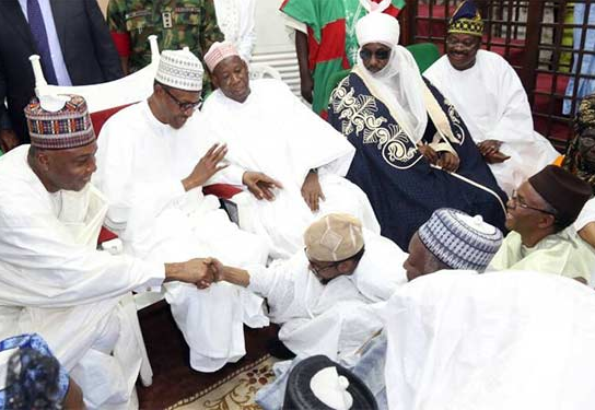 Nigerians call out President Buhari for attending a wedding in Kano state today and not visiting Benue or Dapchi community